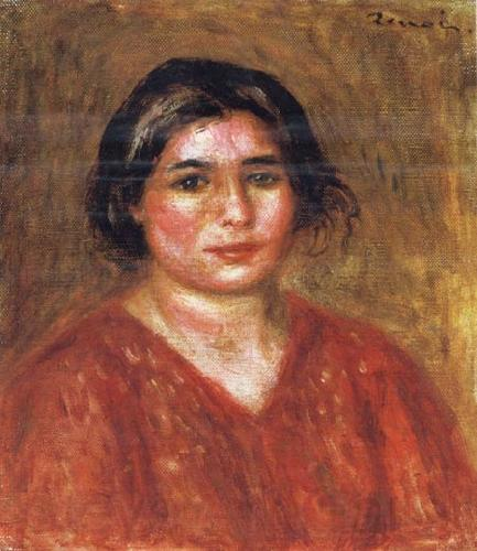 Pierre Renoir Gabrielle in a Red Blouse