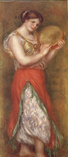 Pierre Renoir Dancing Girl with Tambourine