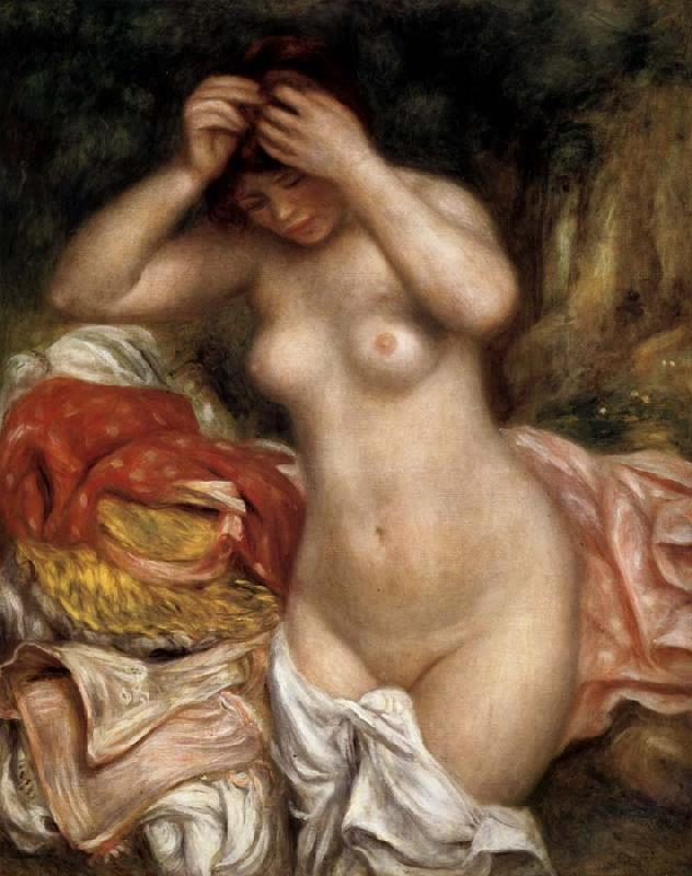 Pierre Renoir Bather Arranging Her Hair