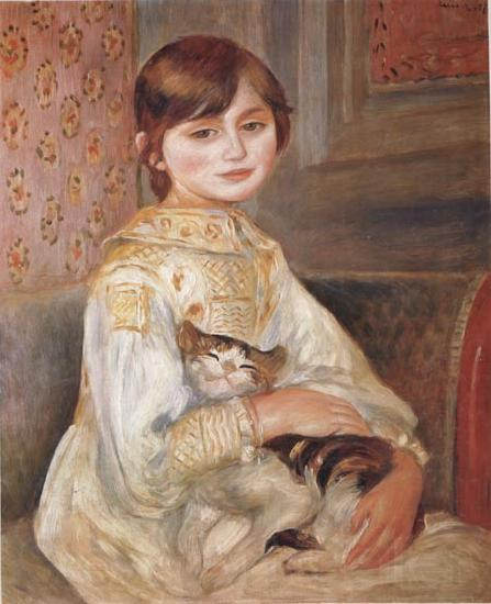 Pierre Renoir Child with Cat (Julie Manet)