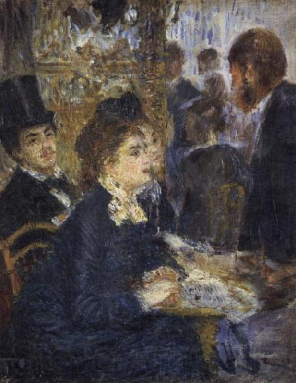 Pierre Renoir At the Cafe