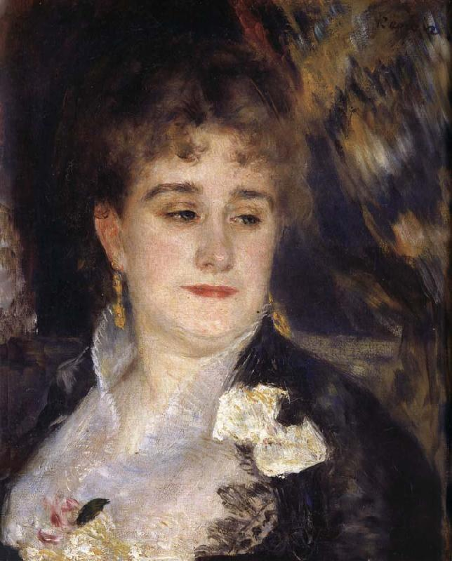Pierre Renoir First Portrait of Madame Georges Charpentier