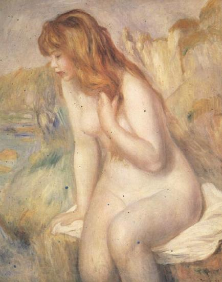 Pierre Renoir Bather on A Rock