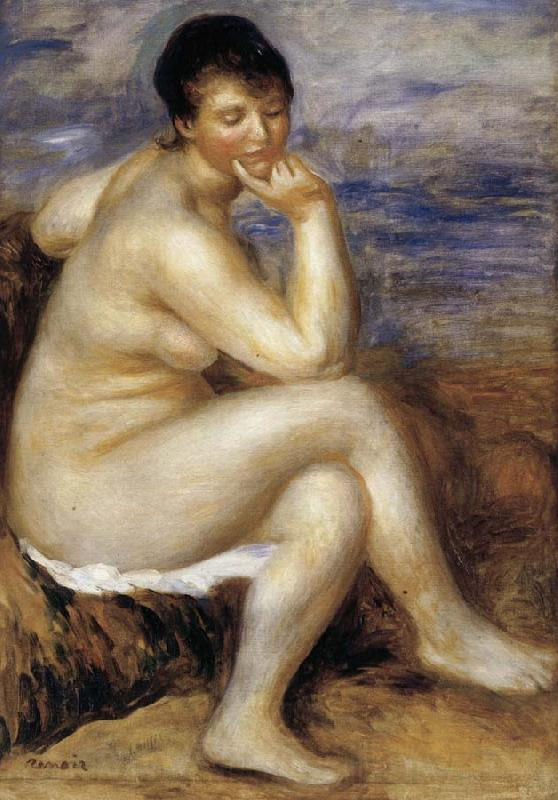 Pierre Renoir Bather with a Rock