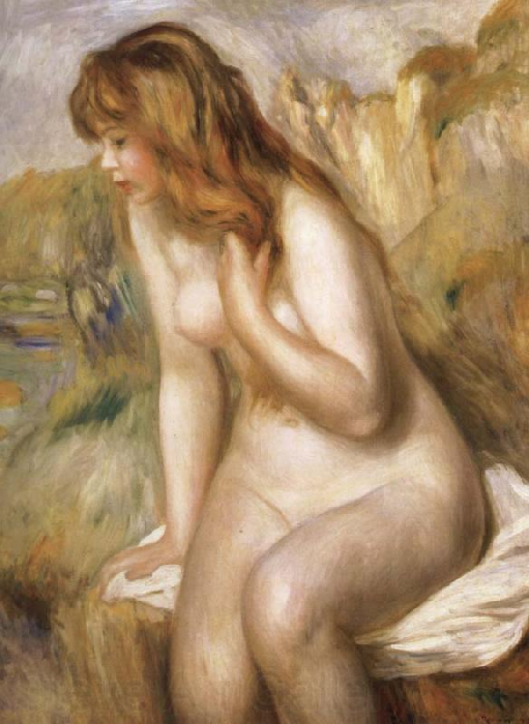 Pierre Renoir Bather Seated on a Rock