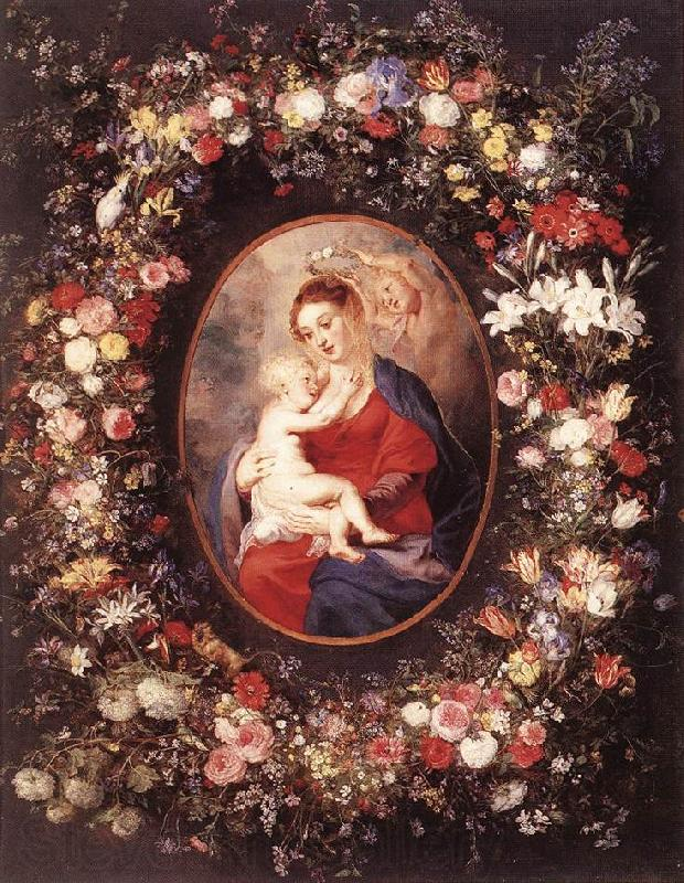 RUBENS, Pieter Pauwel The Virgin and Child in a Garland of Flower