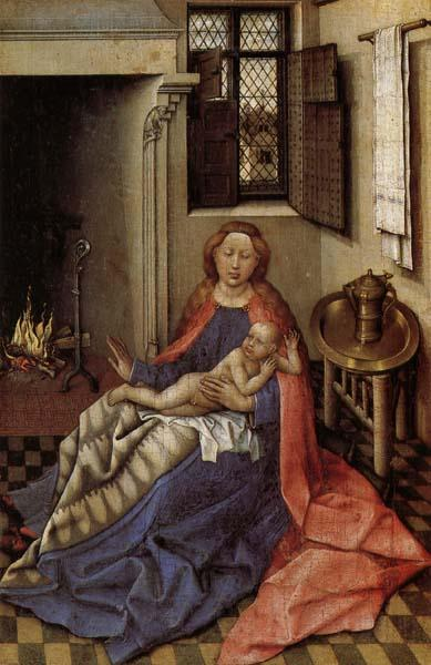 Robert Campin Madonna and Child Befor a Fireplace