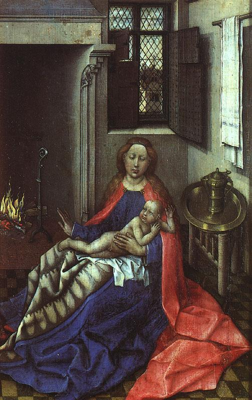 Robert Campin Madonna by the Fireside