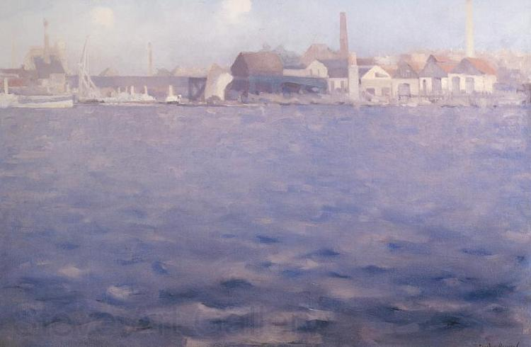 Theodore Roussel Blue Thames End of a Summer Afternoon Chelsea
