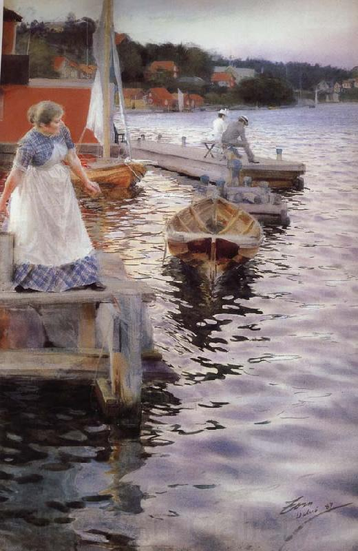 Anders Zorn Vagskvalp(Lappings of the waves)