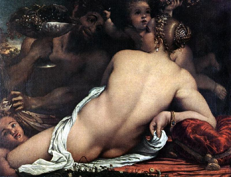 CARRACCI, Annibale Venus with a Satyr and Cupids