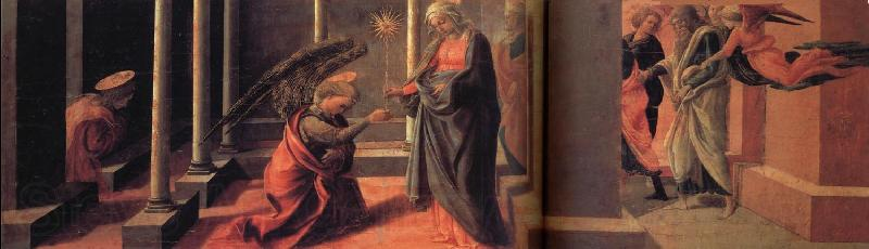 Fra Filippo Lippi Annunciation of the Death of the Virgin and Arrival of the Apostle