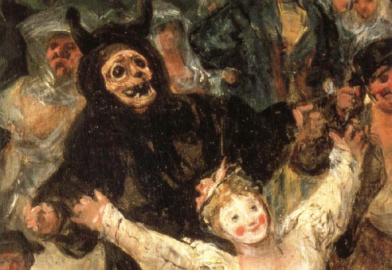 Francisco Goya Details of The Burial of the Sardine