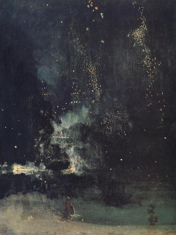 James Abbott McNeil Whistler Nocturne in Black and Gold,The Falling Rocket