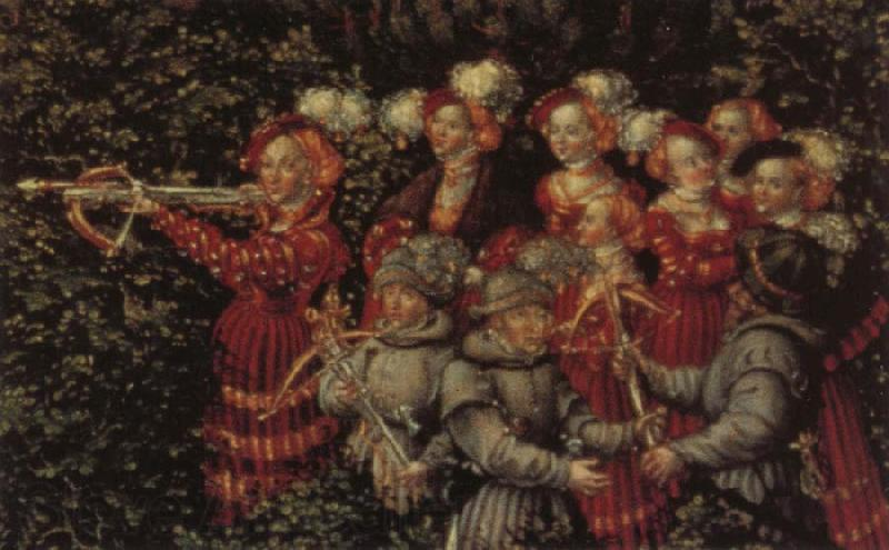 Lucas Cranach Details of The Stag Hunt