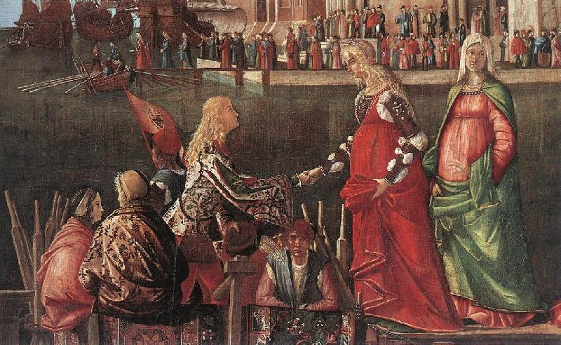 Vittore Carpaccio Meeting of the Betrothed Couple (detail)