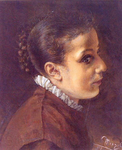 Adolph von Menzel Head of a Girl