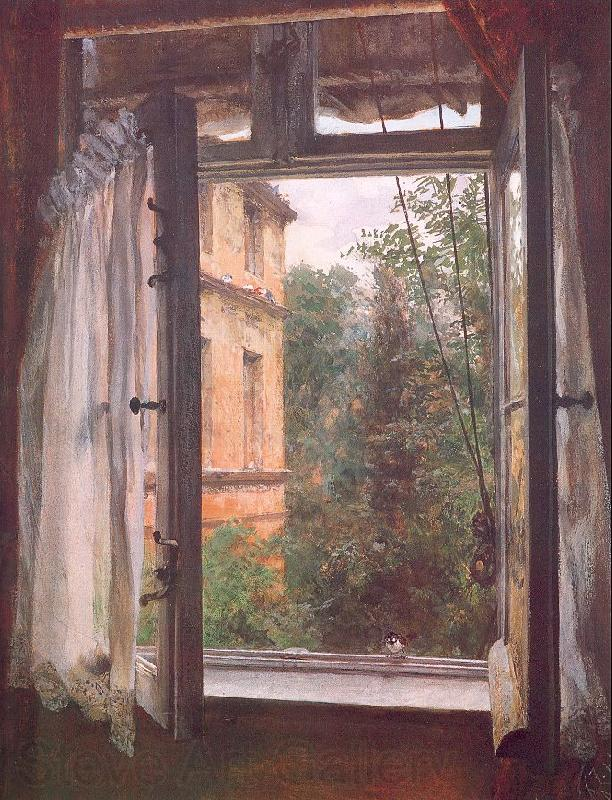 Adolph von Menzel View from a Window in the Marienstrasse
