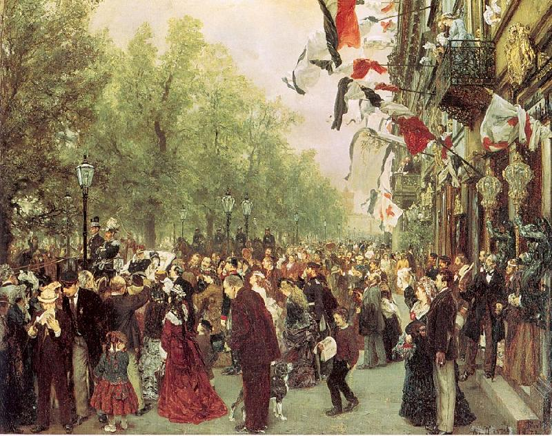 Adolph von Menzel William I Departs for the Front, July 31, 1870