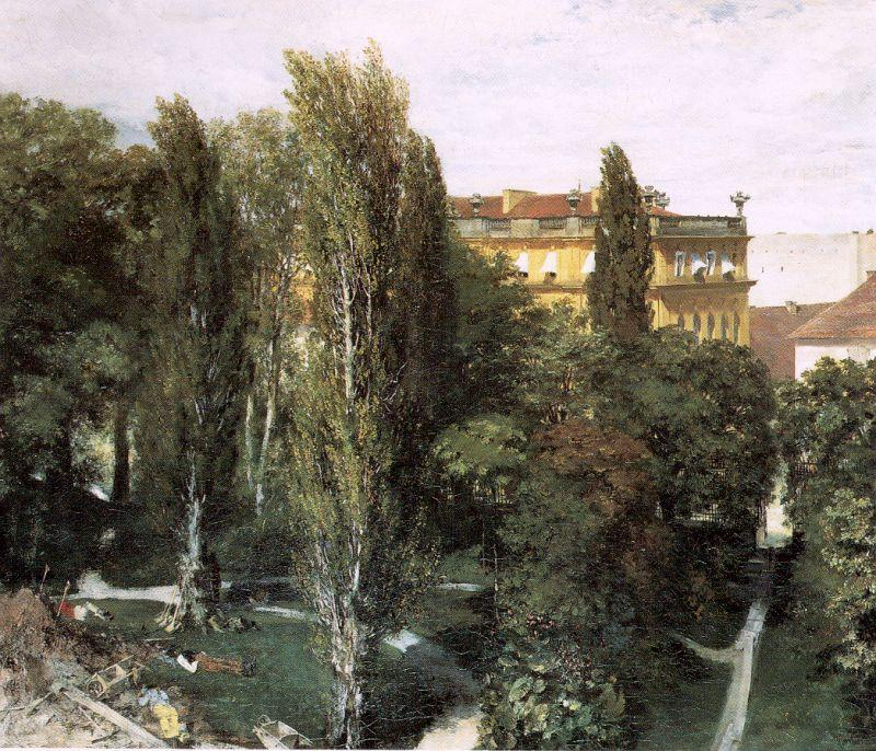Adolph von Menzel The Palace Garden of Prince Albert