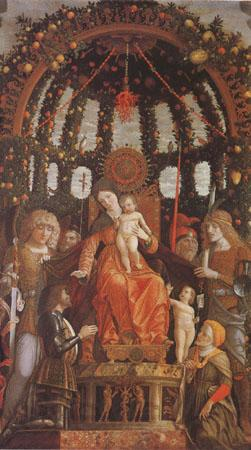 Andrea Mantegna Virgin and Child Surrounded by Six Saints and Gianfrancesco II Gonzaga (mk05)