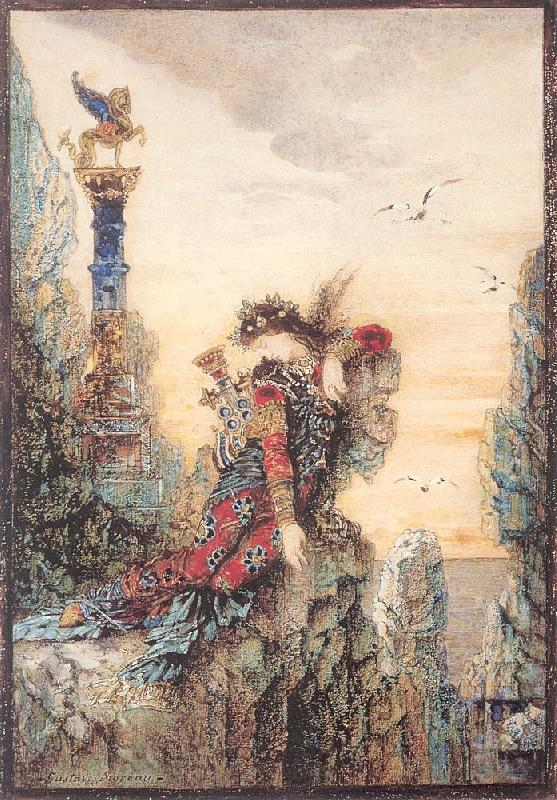 sappho gustave moreau open picture usa oil painting reproductions