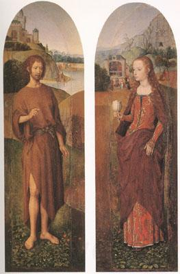 Hans Memling John the Baptist and st mary magdalen wings of a triptych (mk05)