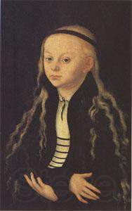 Lucas Cranach Portrait Supposed to Be of Magdalena Luther (mk05)