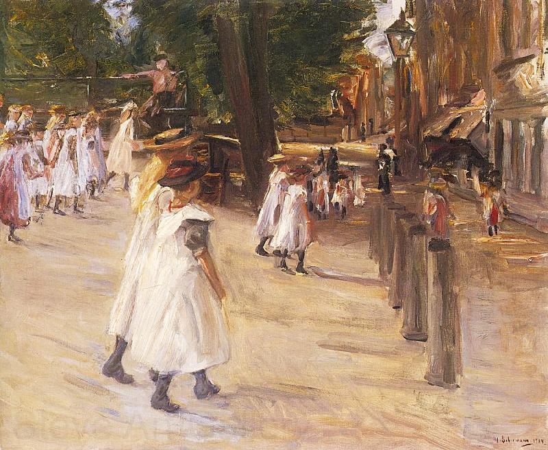 Max Liebermann On the Way to School in Edam