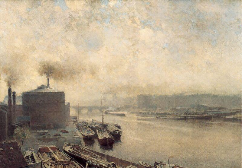 Meckel, Adolf von British Gas Works on the River Spree