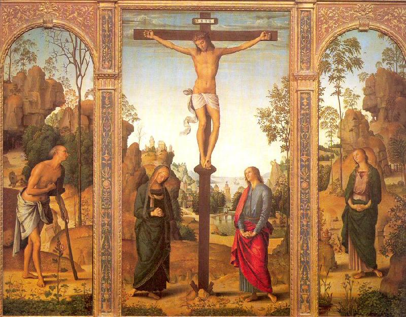 PERUGINO, Pietro The Crucifixion with the Virgin and Saints