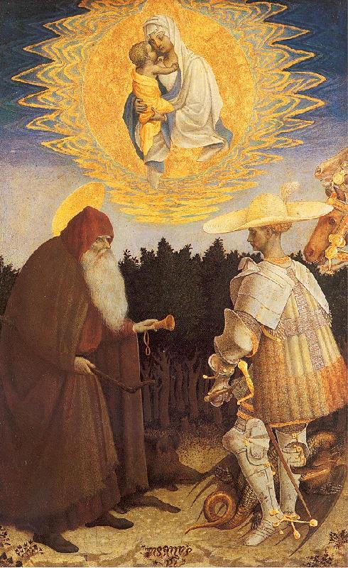 PISANELLO The Virgin Child with Saints George Anthony Abbot