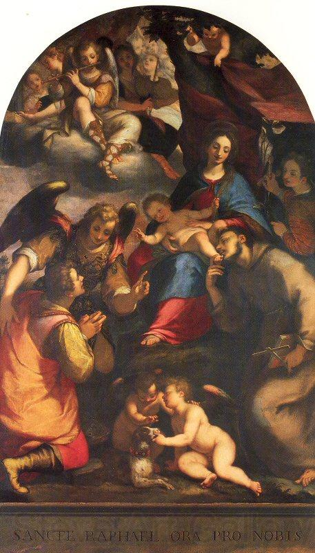 Paggi, Giovanni Battista Madonna and Child with Saints and the Archangel Raphael