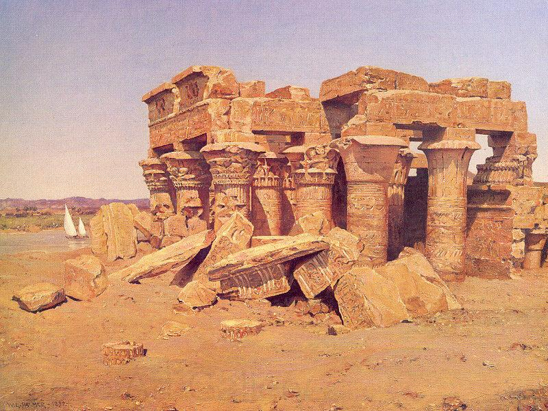 Palmer, Walter Launt The Egyptian Temple of Kom-Ombo