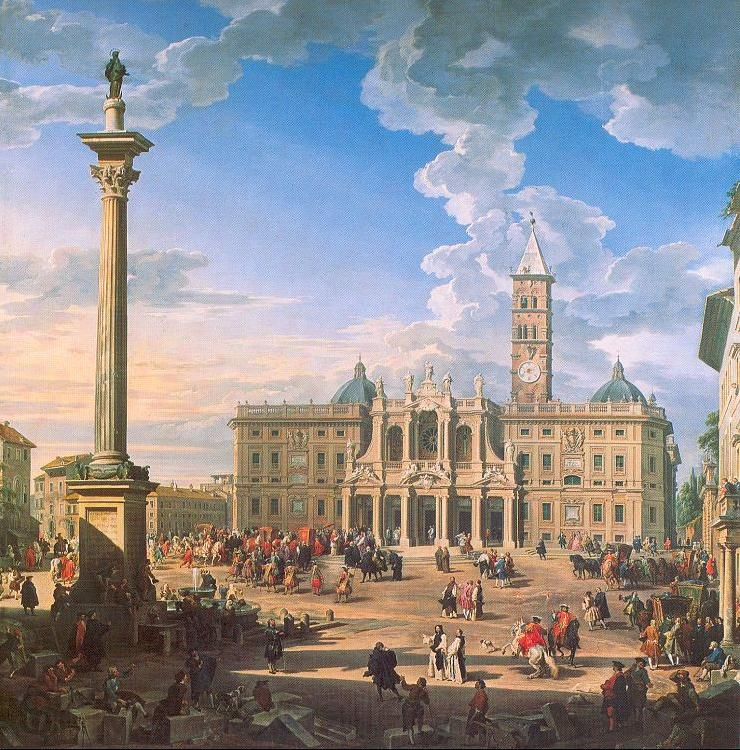 Panini, Giovanni Paolo The Plaza and Church of St. Maria Maggiore