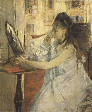Berthe Morisot Young Woman Powdering Herself (mk09)