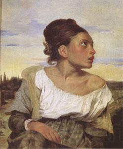 Eugene Delacroix Orphan Girl at the Cemetery (mk05)