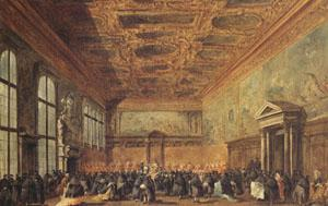 Francesco Guardi rThe Doge Grants an Andience in the Sala del Collegin in the Ducal Palace (mk05)
