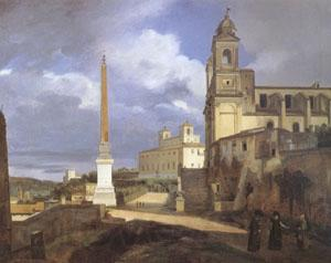 Francois-Marius Granet The Church of Trinita dei Monti in Rome (mk05)