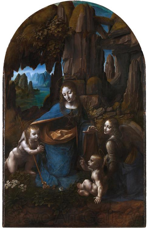 LEONARDO da Vinci Virgin of the Rocks,completed (mk08)