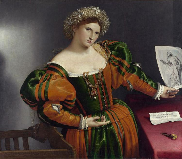 Lorenzo Lotto Portrait of a Lady as Lucretia (mk08)