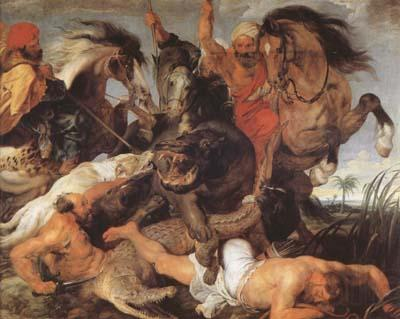 Peter Paul Rubens Hippopotamus and Crocodile Hunt (mk080