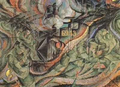 Umberto Boccioni State of Mind II The Farewells (mk09)