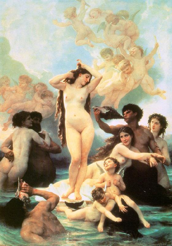 Adolphe William Bouguereau The Birth of Venus