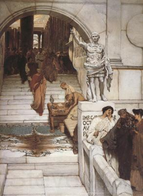 Alma-Tadema, Sir Lawrence An Audience at Agrippa's (mk23)