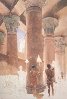 Alma-Tadema, Sir Lawrence Cleopatra at the Temple of Isis at Philae (mk23)