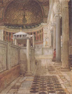 Alma-Tadema, Sir Lawrence Interior of the Church of San Clemente (mk23)