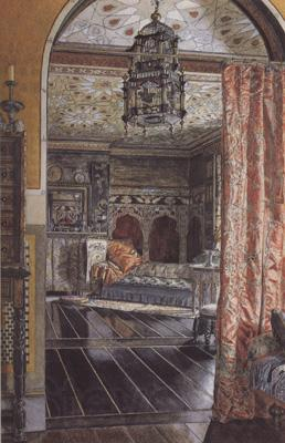Alma-Tadema, Sir Lawrence Anna Alma-Tadema,The Drauwing Room at Toumshend House (mk23)