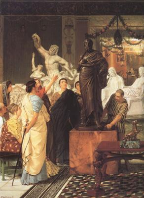 Alma-Tadema, Sir Lawrence A Sculpture Gallery in Rome at the Time of Augustus (mk23)