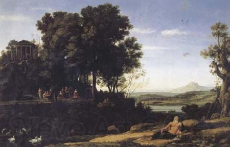 Claude Lorrain Landscape with Apollo and the Muses (mk17)